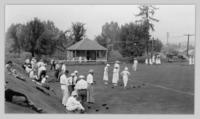 Lawn bowling tournament on Armstrong Hospital grounds