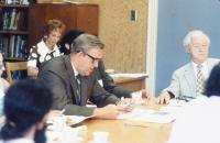 Alf Glenesk at a meeting