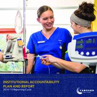 Institutional Accountability Plan and Report - 2014/15