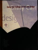 Emily Carr College of Art and Design Courses 93-94