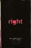 Right Left. Emily Carr University of Art + Design formerly Emily Carr Institute 2009/09 Viewbook
