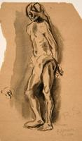 Male figure study after Rembrandt