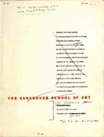 The Vancouver School of Art