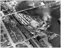 Aerial view of Armstrong Sawmill at Enderby