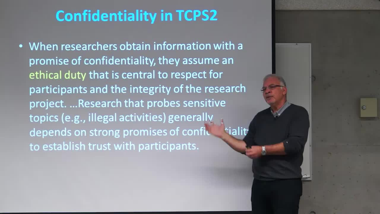 Research Confidentiality: Researcher and Institutional Responsibilities