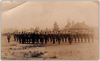 Canadian Mounted Rifles in formation