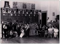 School children in Nativity pageant at Lumby Primary School