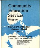 Community Education Services Program : Second Semester, January-March, 1977
