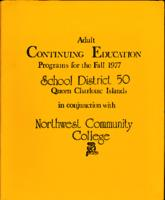 Adult Continuing Education Programs for the Fall 1977