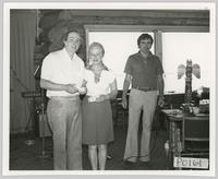 Alf Tate with unidentified man and woman at Ponderosa Golf Club