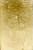 Unknown Man at Grave Site
