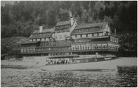 "C.P.R. Hotel Sicamous and motor launch ""Tourist"""