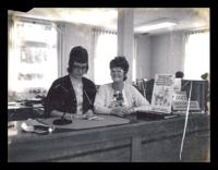 Bank tellers Lorna Strong & Shirley Marven