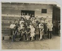 Group photograph outside Occidental Packing House